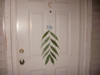 Palm branch on my door