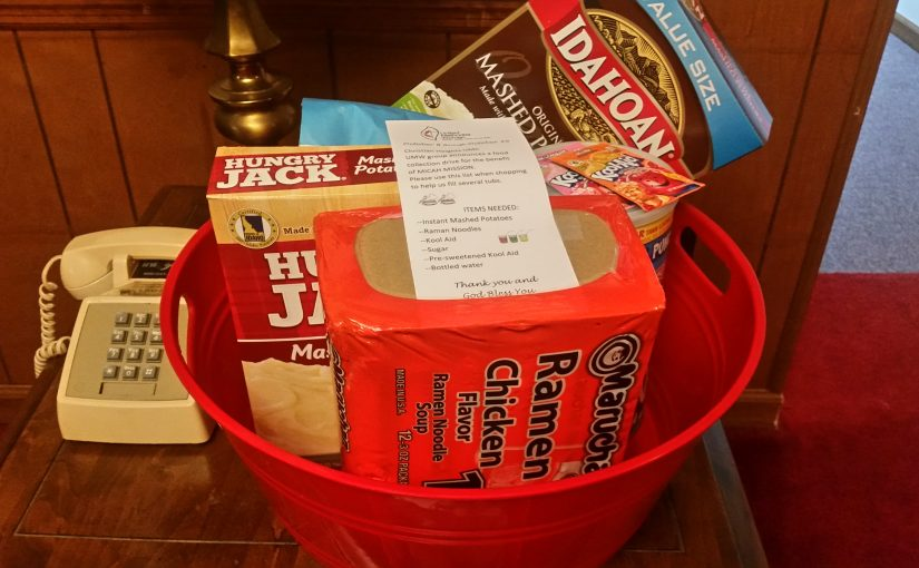 Food Drive Sponsored by United Methodist Women at CHUMC
