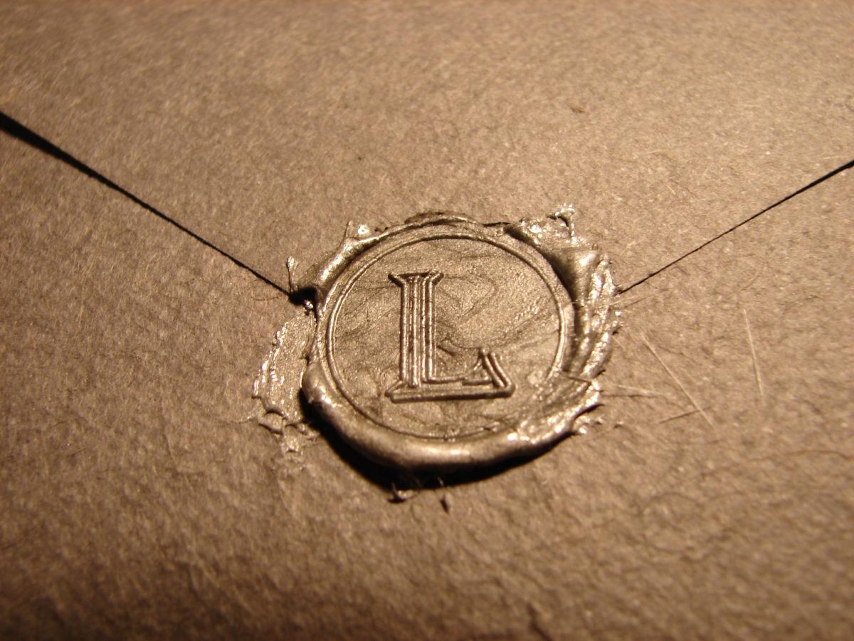 sealed paper letter